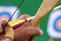 target shooting with a recurve bow